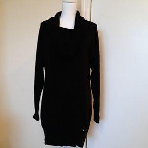 🖤Bebe Black Long Sleeve Tunic Sweater Size Large